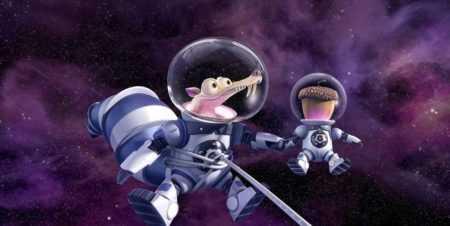белка Скрэт в космосе