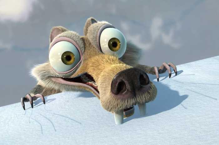 """Белка из """"Ледникового периода"""" - самый комичный персонаж мультфильма"""